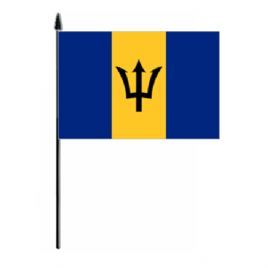 Barbados Country Hand Flag - Medium
